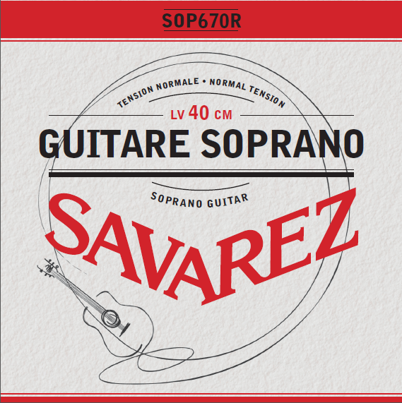 GUITARE SOPRANO TENSION NORMALE SOP670R