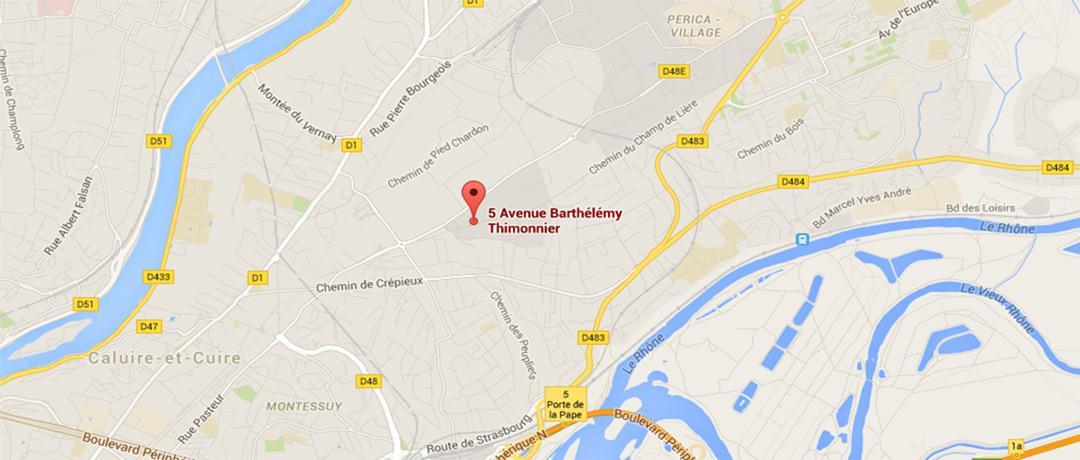 Plan d'accès sur Google Map