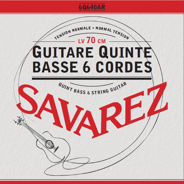 Quint bass 6 strings guitar (Bariton) Normal Tension 6Q640AR