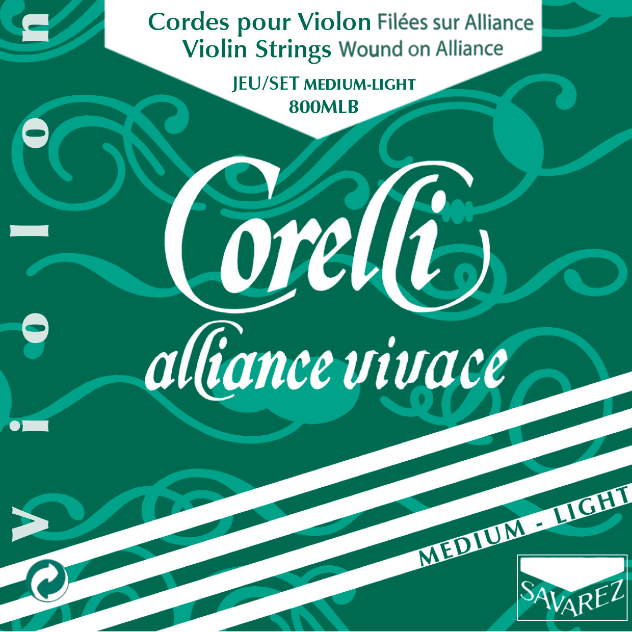 CORELLI ALLIANCE VIVACE MEDIUM LIGHT 800MLB VIOLIN