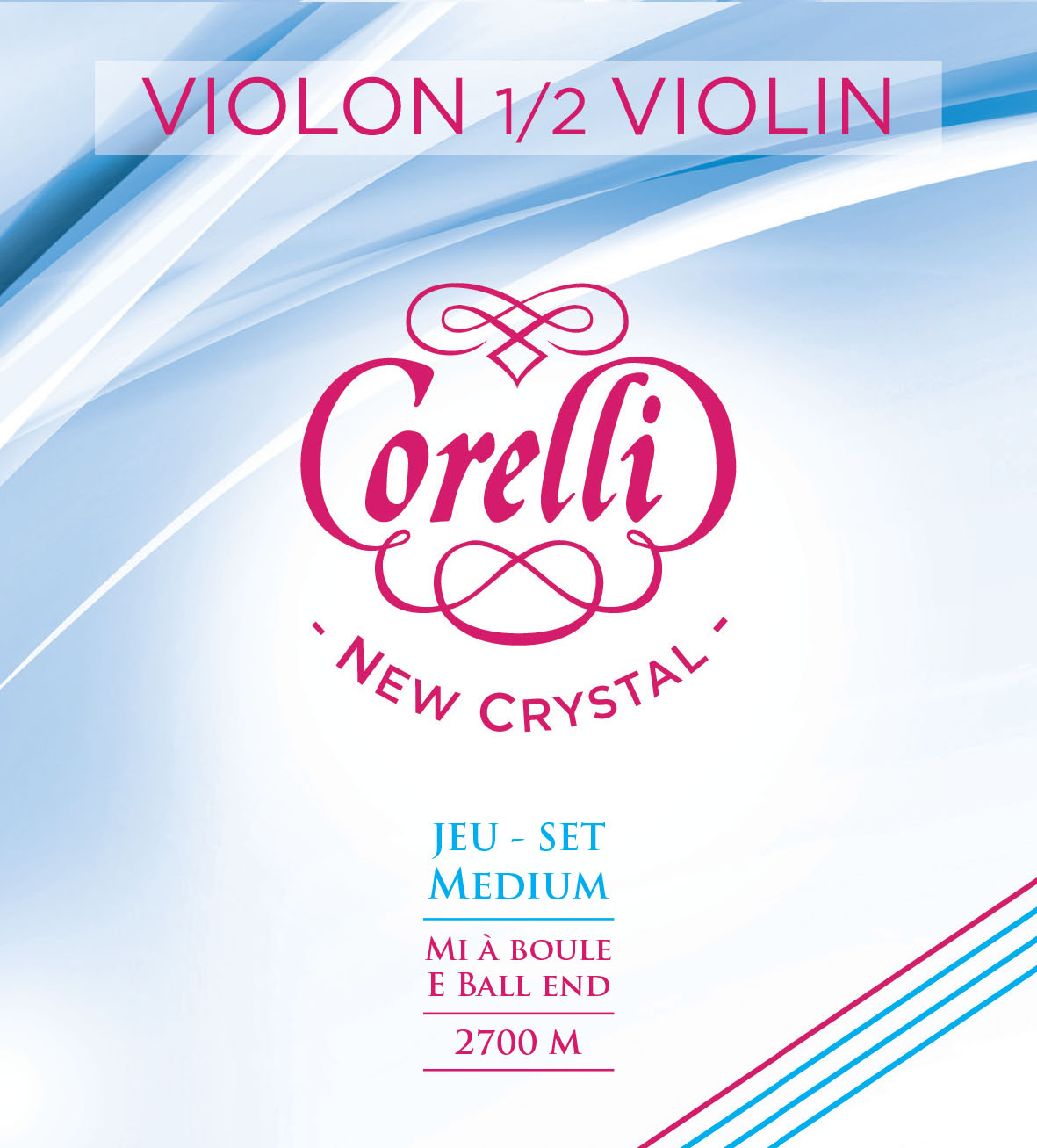 CORELLI NEW CRYSTAL MEDIUM 2700M VIOLIN 1/2